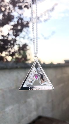 Onesoul Silver Woman to Woman Pendant with Pink Tourmaline gemstone