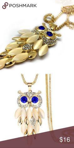 Gold Owl Pendant Necklace Cute gold owl pendant necklace. Length 75 cm. Jewelry Necklaces