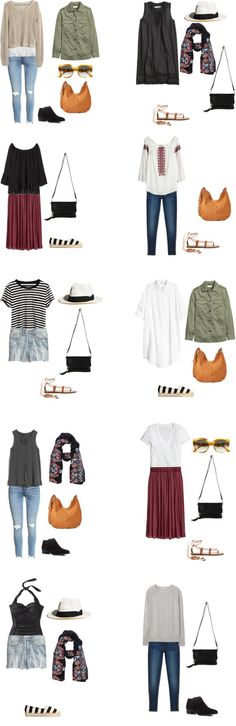 What to Wear in Spain and Italy Outfit Options 1-10 #travellight #packinglight #travel #traveltips