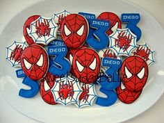 Spiderman - cute for a birthday - visit to grab an unforgettable cool Super Hero T-Shirt! Spiderman Cute, Spiderman Cookies, Superhero Birthday Party, 4th Birthday Parties, Spiderman Birthday Cake, Third Birthday, Boy Birthday, Birthday Ideas, Party Time