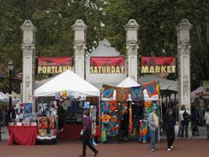 A favorite weekend stroll: the Portland Saturday Market, down by the river.