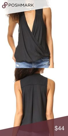 ON VACATION! Free People So Fine Cowl Tank Unable to ship until April 3!! You may still purchase but please note the ship date!  Size XS. Black with bronze-y metal hardware. NWT. MSRP $78. description coming soon Free People Tops Tank Tops