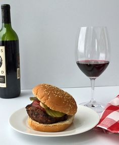 Why haven't we done this!! A Wine-and-Burger Pairing! @Stephanie Luther @william ryan @Joanna Schmuff