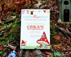 Gnome Home or Fairy House Party Invitation  by Pepper Avenue