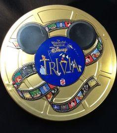 The Wonderful World of Disney Trivia Board Game Mattel 1997 Metal Tin Complete | eBay #disneytrivia