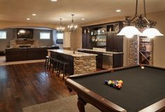 man cave ideas with tan or beige walls and charcoal gray accents