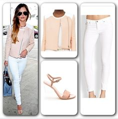 Strut the streets like Cheryl Cole ;)  Jacket - same as worn by Cheryl Cole (#ClubMonaco Conner Jacket) available at www.clubmonaco.com at $249. Jeans (AG #AdrianoGoldschmied the Leggings Skinny Jeans) available at www.saksfifthavenue.com at $168. Sandals (#StuartWeitzman The One Sandals) available at www.stuartweitzman.com at 50% off at $199. #CherylCole #singer #celebrity #itgirl #streetstyle #casualchic #elegant #classy #spring #chic #streetstyle #fabulous #lady