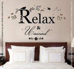 Hey, I found this really awesome Etsy listing at https://www.etsy.com/uk/listing/232095572/relax-unwind-quote-vinyl-wall-art