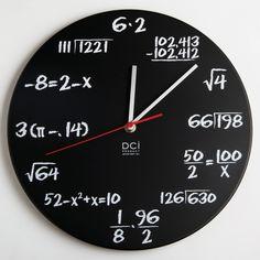 The math quiz clock. The ultimate nerd timekeeping device.