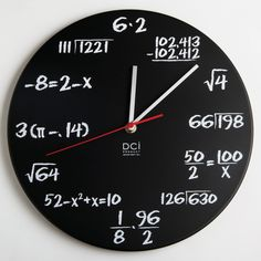 The math quiz clock. The ultimate nerd timekeeping device.