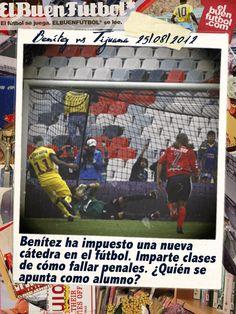 Cursos para tirar penales... Christian Benítez en el América vs Tijuana. Estadio Azteca.
