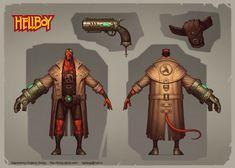 hellboy_design_comicon_2014, Evgeniy Zagumennyy on ArtStation at https://www.artstation.com/artwork/Z0wGX