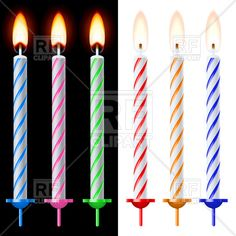 Colorful birthday cake candles, 7393, download royalty-free vector clipart (EPS)