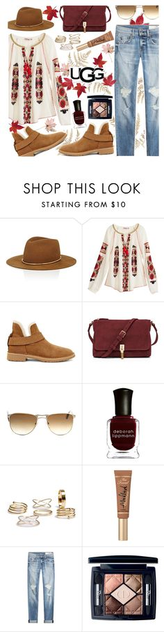 """""""The New Classics With UGG: Contest Entry"""" by anamarija00 ❤ liked on Polyvore featuring Janessa Leone, Calypso St. Barth, UGG, Elizabeth and James, Persol, Deborah Lippmann, rag & bone, Christian Dior and ugg"""