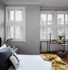 Southfields by Plantation Shutters Ltd Decor, House Styles, Modern Interior, White Shutters, Interior Design, Home Decor, Clean Modern, Home Styles, Interior Architecture