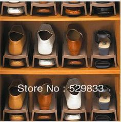 Free shipping 2013 new design two layers plastic shoe  storage hanger,  storage rack-inStorage Holders & Racks from Home & Garden on Aliexpress.com
