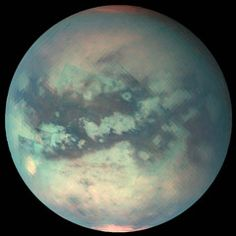 Titan, moon of Saturn. Rivers of running methane... awesome.