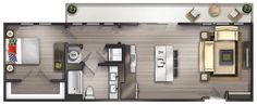 Studio Apartments Nashville | Peyton Stakes Luxury Apartments: A5  1 Bed | 1 Bath 936 Sq. Ft. Starting At $1979