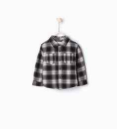 Image 1 of Check overshirt from Zara