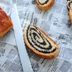 Quick Poppy Seed Strudel (in Serbian) Gourmet Recipes, Mexican Food Recipes, Cooking Recipes, Poppy Seed Filling, Dinner Rolls Recipe, Czech Recipes, Polish Recipes, Perfect Breakfast, Brioche