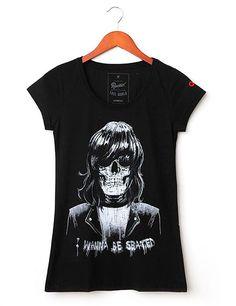 Skull Joe Ramone - t-shirt Liverpool, 100% algodão fio 30, com tratamento especial Stone Wash.