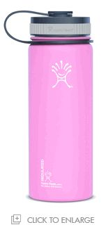 Hydro Flask 18 oz. Wide Mouth Insulated Stainless Steel Bottle (Pinkadelic) http://www.heartratemonitorsusa.com/hydroflask-18-wide-pink.html
