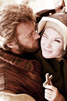 """Clint Eastwood & Shirley Maclaine on the set of """"Two Mules for Sister Sara"""""""