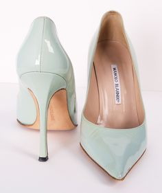 I have these very shoes, and they're my favorite pumps. Not exactly comfortable to walk in for more than a block or two, but stunning. And that's what counts.