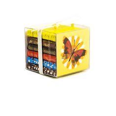 "300Spring ""Butterfly"" Clear Box 6×8g dark & milk bars  - Tcho, $6.95"