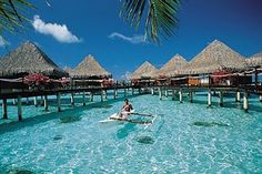Bora Bora Bungalows, Tahiti, French Polynesia Honeymoon please! Dream Vacation Spots, Need A Vacation, Vacation Places, Honeymoon Destinations, Dream Vacations, Places To Travel, Places To See, Honeymoon Places, Santorini Honeymoon