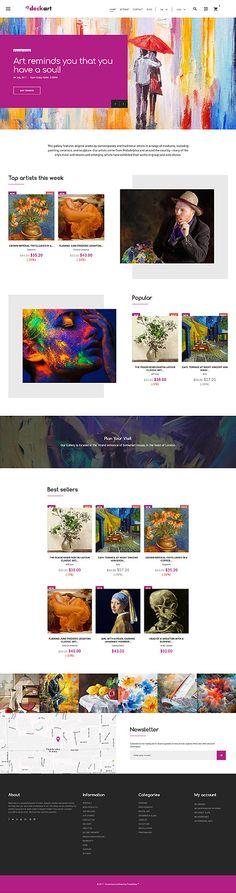 Art Gallery & Online Store #Prestashop #template. #themes #business #responsive #webshop #Prestashopthemes