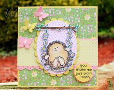 Featuring Penny Black's Garden Friends set SKU 626186, available at www.addictedtorubberstamps.com  Card created by Clair Matthews.