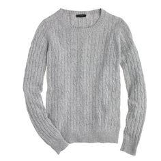 J.Crew - Cambridge cable crewneck sweater
