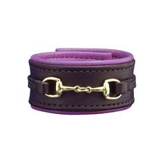Bit Cuff Bracelet The Perris Padded Leather Bit Bracelet combines a trendy cuff style with a traditional English snaffle bit. These metallic padded two-tone br…