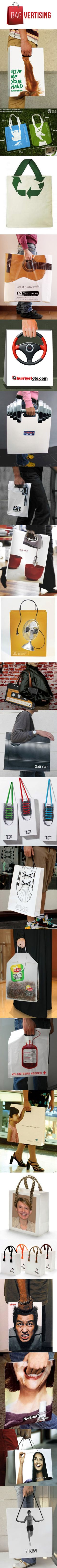 Idées originales pour habiller vos packaging le BAGVERTISING ! #streetmarketing #m2mediascom