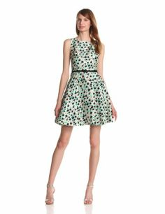 Taylor Dresses Women's Floral Fit-And-Flare Dress