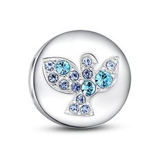 Glamulet 925 Sterling Silver Masquerade Dangle Swarovski Charm Fits Pandora Chamilia VLCrGxOW