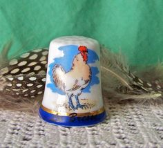 Vintage Rooster Thimble La Bresse France by cynthiasattic on Etsy, $25.00