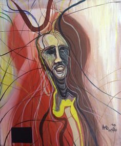 "Arto Der Haroutunian 'Emerging' 24"" x 20"" Acrylic on Canvas"