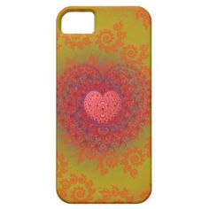 Red Yellow & Orange #Heart #Fractal #iPhone 5 Case $44.95