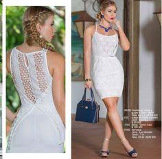 #ClippedOnIssuu from Catalogo 26.pdf White Fashion, Bodycon Dress, Angela, Pdf, Dresses, Formal Wear, Formal Dresses, Beautiful Clothes, Lace