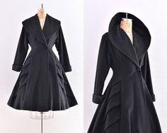 Wow! pure regal vintage grace...  vintage 1940s coat   princess coat / new look / by PickledVintage, $575.00