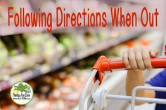 Going out to the store or out to eat can be a very stressful experience for some parents who have a child with special needs. A lot of the stress comes from fear of the unknown, the potential for melt-downs, and not knowing whether you can handle all of Activities Of Daily Living, Activities To Do, Following Directions Activities, Fear Of The Unknown, Pediatric Ot, Language Activities, Special Needs, Speech And Language, Speech Therapy