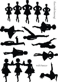 Irish dancing Silhouettes