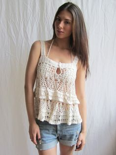 Cute top!  Probably wear a tank top under it though :)