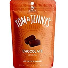 Tom & Jenny's Sugar Free Soft Caramel Candy with Chocolate and Sea Salt - Low Net Carb Keto Chocolate Candy - with Xylitol and Maltitol - (Chocolate Caramel, Keto Desserts To Buy, Keto Dessert Easy, Low Carb Desserts, Delicious Desserts, Chocolate Liquor, Chocolate Caramels, Sugar Free Chocolate, Keto Candy, Caramel Candy