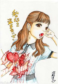 """Funny Girl #78"" painting by Shintaro Kago"