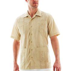 901838a621 Havanera Short Sleeve Button Front Shirt JCPenney