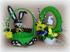 Easter Wreaths, Handmade Christmas, Paper Art, Wicker, Origami, Crafts For Kids, Creations, Halloween, Decoration