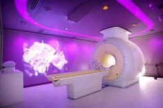Dynamic color inside a Phillips MRI scanner exam room!